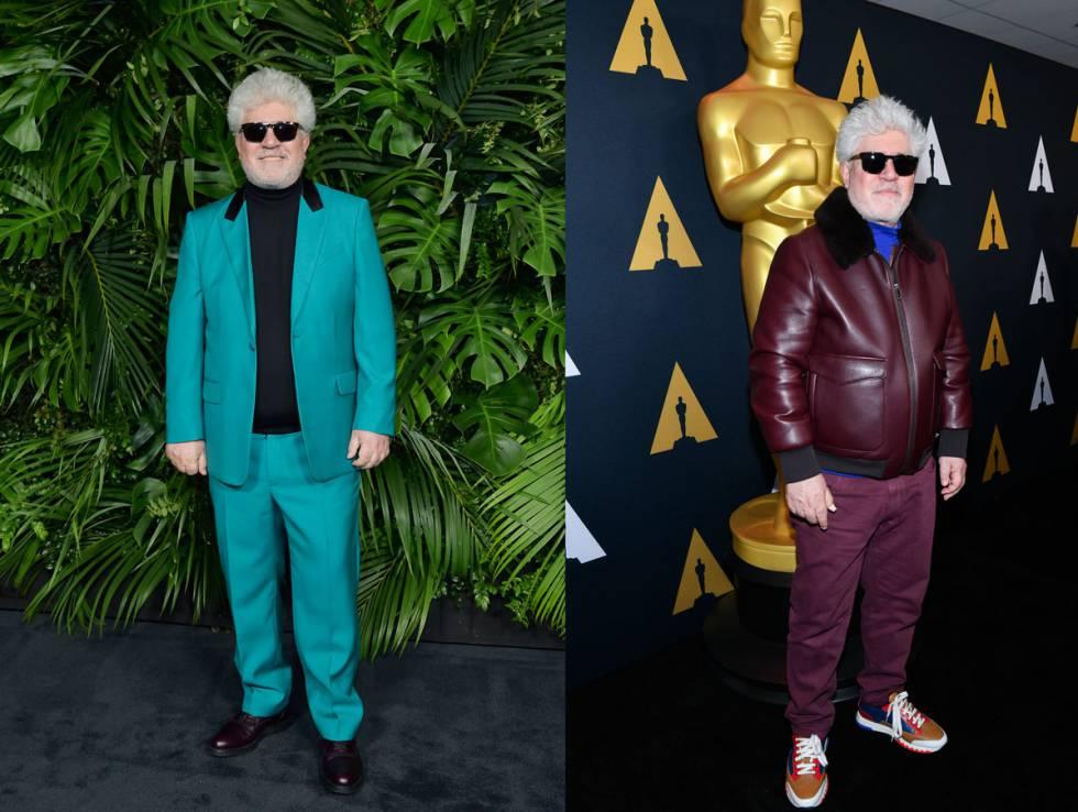 Sin miedo al turquesa ni al berenjena en la semana previa a los Oscar de 2020.