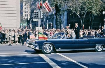 Selassie junto a Kennedy en 1963, año en que dio un discurso ante la ONU en Nueva York.
