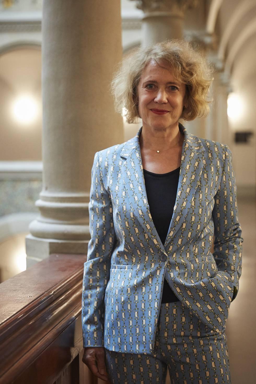 Corine Mauch, la primera mujer frente a la alcaldía de la ciudad suiza, en la Stadthaus a finales de agosto.
