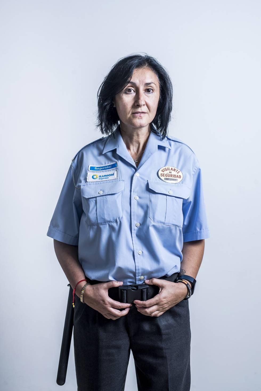 María Montaña Franco, vigilante.