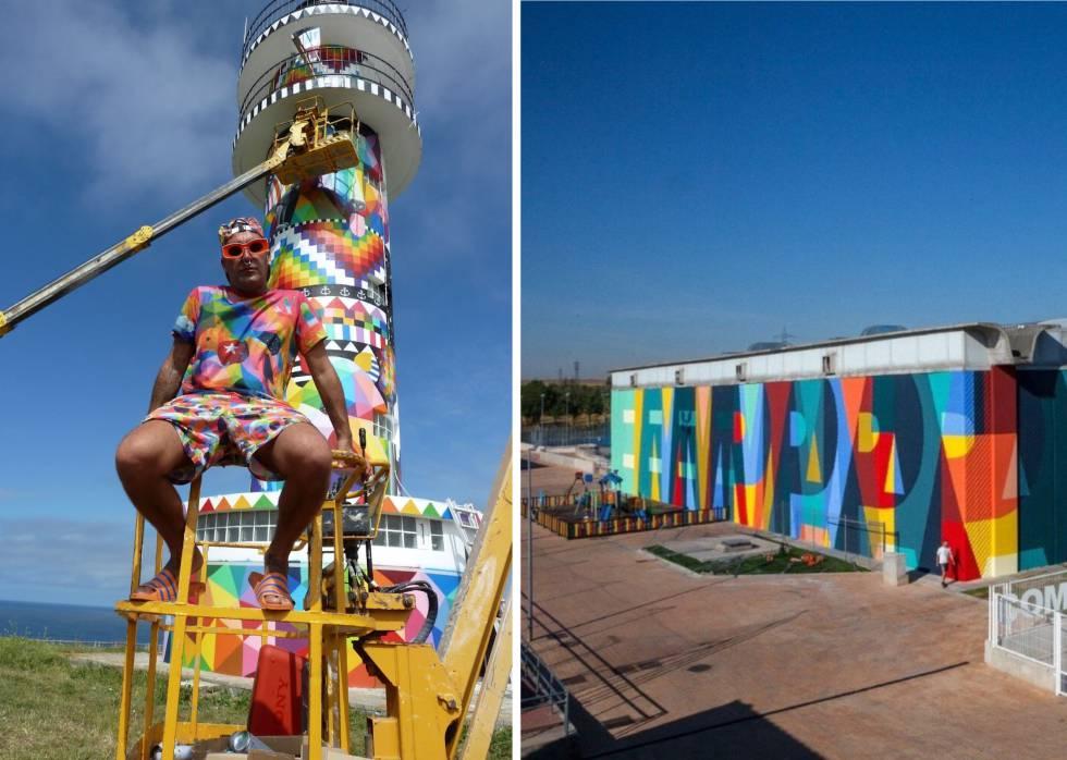 Dónde acaba la obsesión española por colorear edificios: de Okuda a Boa Mistura