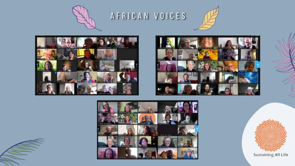 Los participantes del evento 'African Voices', centrado en las sinergias entre líderes contra el cambio climático en África.