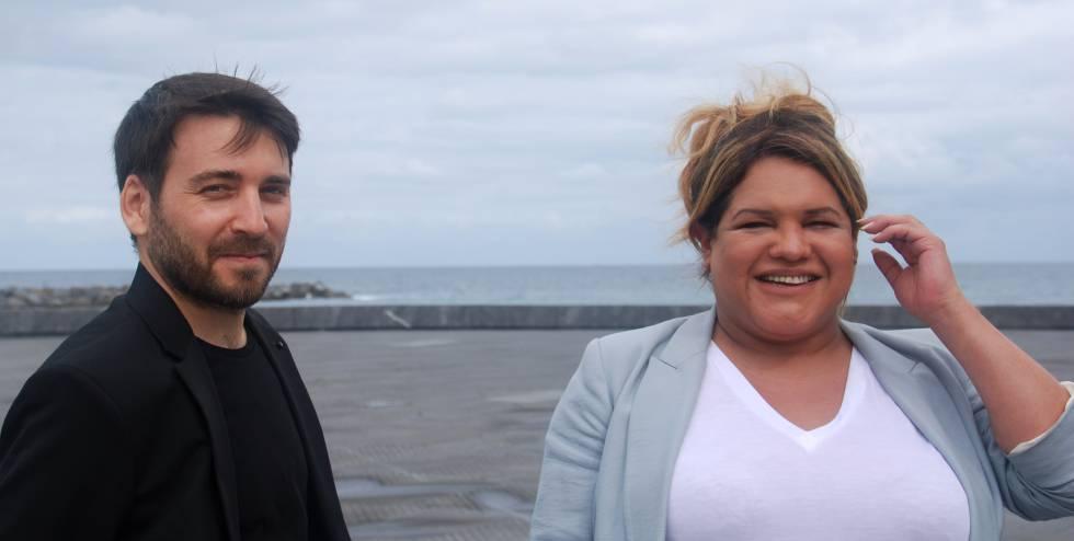 Eduard Crespo y Romina Escibar, director y protagonista de 'Nosotros nunca moriremos'.