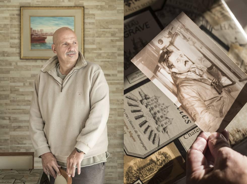 Cristian Panigadi, hijo de Tulio Panigadi (que aparece en la foto histórica), marino mercante y capitán del buque de abastecimiento Isla de los Estados, muerto en las Malvinas.