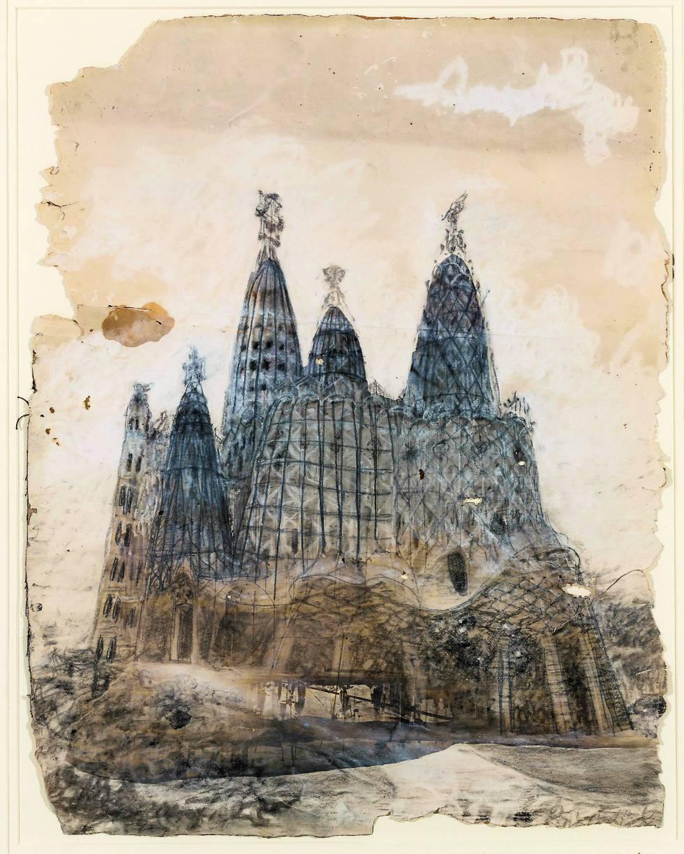 Proyecto para la capilla de la Colonia Güell, donde Gaudí adelantó el 'espíritu' de la Sagrada Familia. Nunca llegó a construirse.