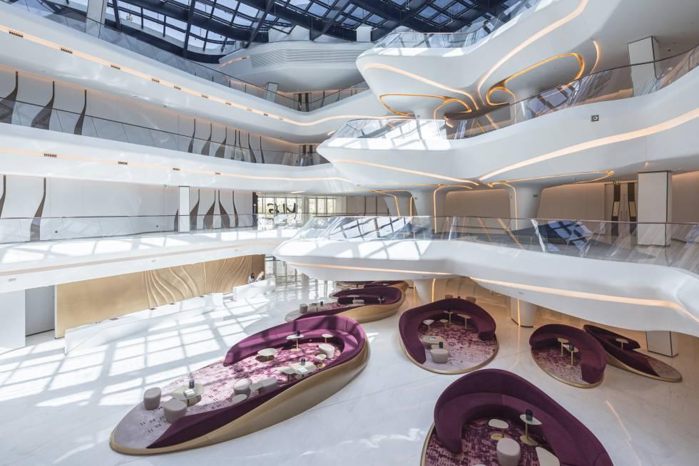 Interior of the hotel designed by Zaha Hadid in Dubai for the Melíá chain.