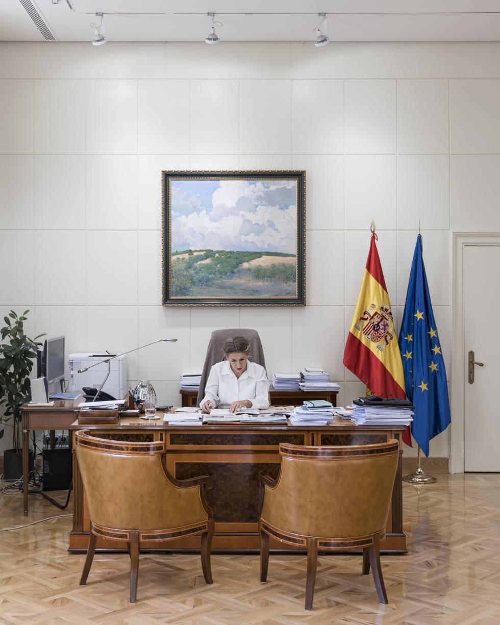 Yolanda Díaz, en su despacho.