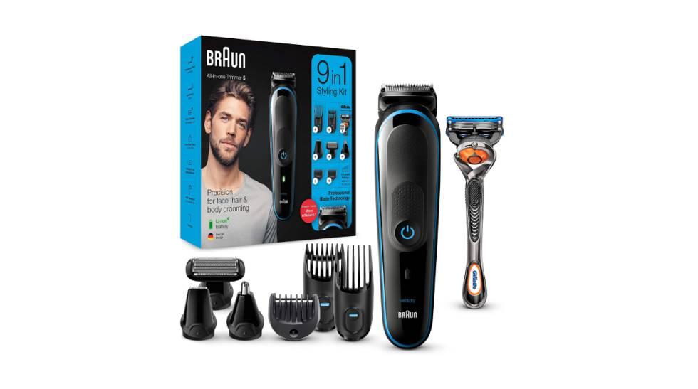 Máquina recortadora de barba Braun