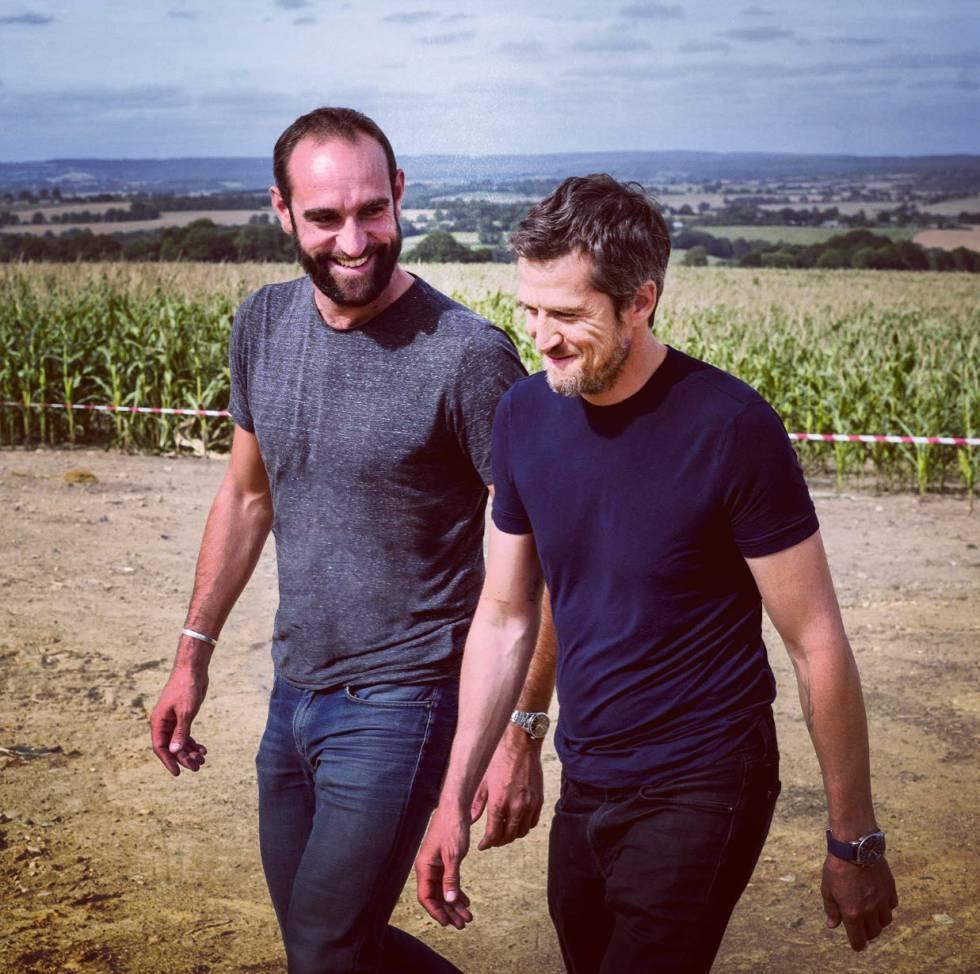 Edourad Bergeon (a izquierda) y Guillaume Canet se han convertido en los adalides de los agricultores franceses