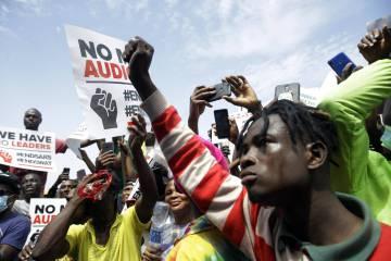 Imagen de las protestas #EndSARS en Nigeria.