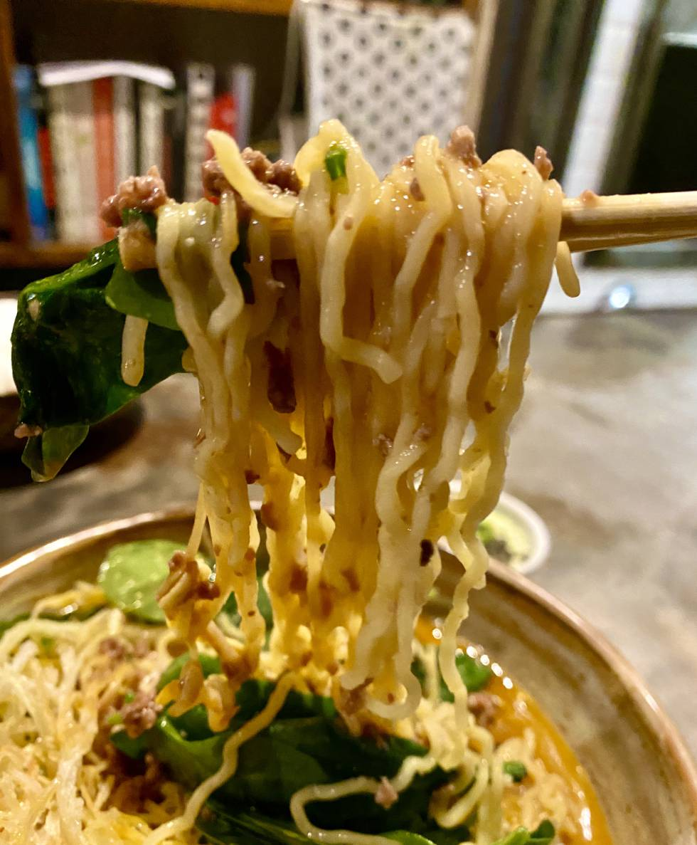 Tantanmen ramen noodles, at the Chuka Ramen Bar restaurant. JC CAPEL
