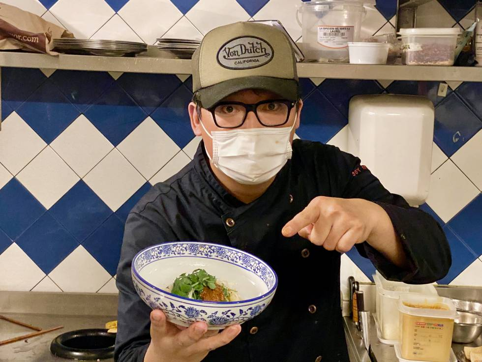 The restless and creative chef Julio, in his restaurant Soy Kitchen.  JC CAPEL