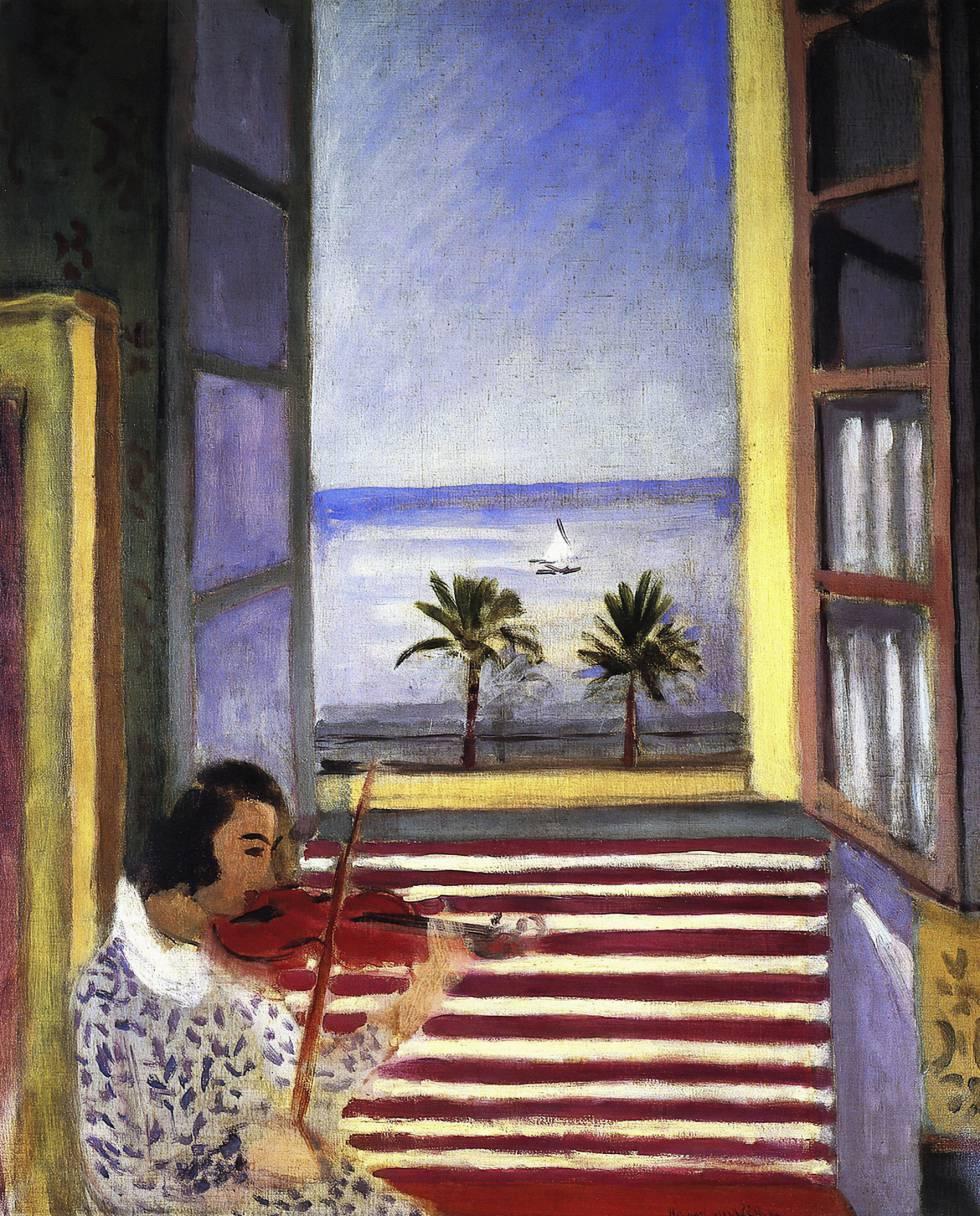 'Mujer joven tocando el violín frente a una ventana abierta', de 1923.