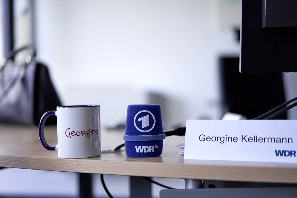 Despacho de la periodista que actualmente ejerce de jefa territorial de la WDR con sede en Essen y tiene a 120 personas a su cargo.