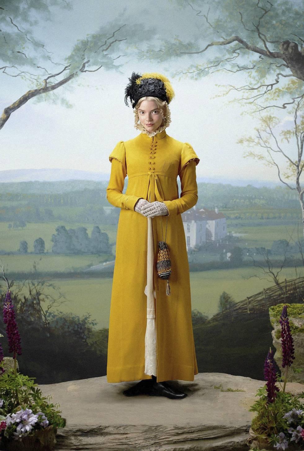 La actriz, en su papel de la joven Emma en la película 'Emma', de Autumn de Wilde (2020), basada en la novela de Jane Austen.
