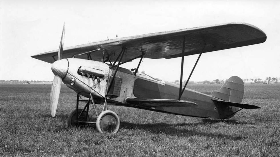 Uno de los Fokker D.XIII holandeses utilizado para el entrenamiento de los pilotos alemanes en el aeródromo de Lipetsk (URSS).