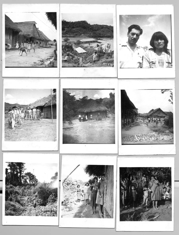 Mario Vargas Llosa durante su visita a la misíon de Santa María de Nieva 3, Condorcanqui, Amazonas, año 1964.
