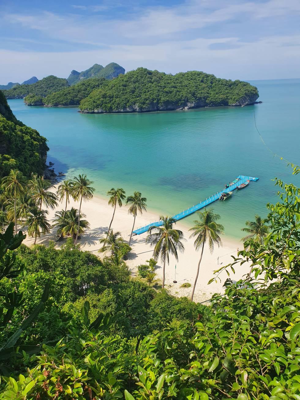 El parque nacional Ang Thong, en Tailandia, sin un solo turista.