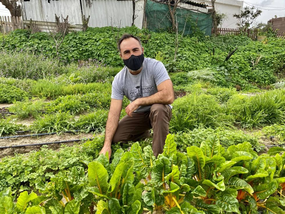 Rafael Monge en su navazo Cultivo Desterrado. J.C. CAPEL