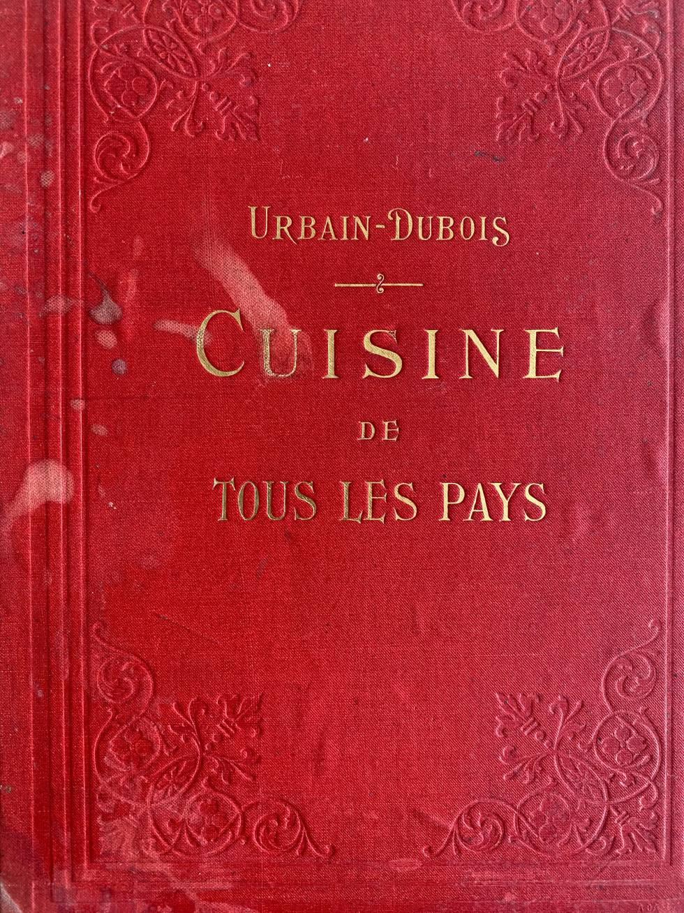 Libro de cocina de Urban Dubois,