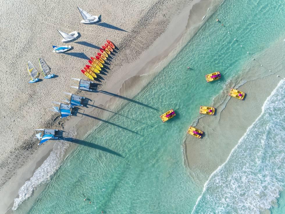 Playa del hotel Meliá Internacional en Varadero.