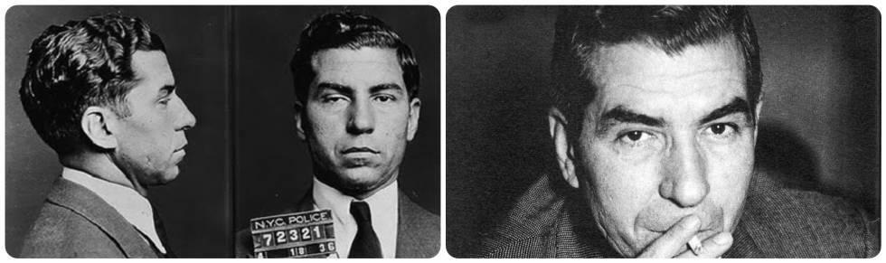Ficha del gángster Charles Lucky Luciano tras su arresto en Estados Unidos en la década de 1930.