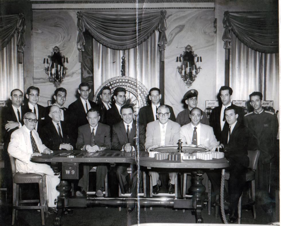 El casino del hotel Nacional, en los años cincuenta.