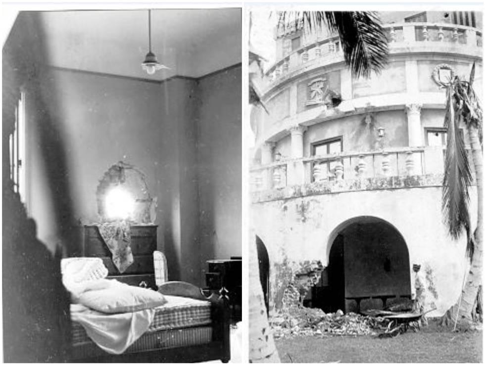 Daño al hotel en 1933, tras la revolución que sacó del poder a Machado.