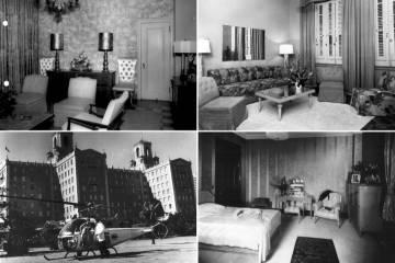 Detalles del hotel Nacional en los años cincuenta.
