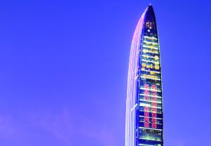 La torre KK100 (Kingkey 100), en Shenzhen (China).