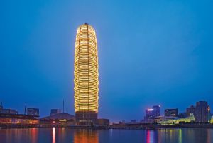 La torre de Zhengzhou Greenland Plaza, en China.