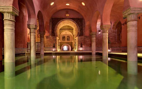 Sala templada del Hammam Al Ándalus de Granada.