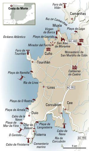 Mapa Costa Da Morte.En Coche Por La Costa Da Morte El Viajero El Pais