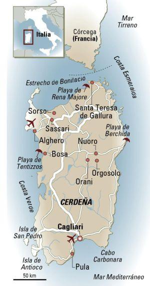 Mapa Corcega Y Cerdeña.Cerdena Una Isla De Cuento El Viajero El Pais