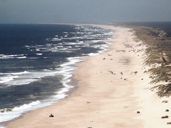 a panoramic view of quiaios beach