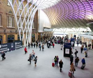 La estación de tren de King's Cross, en Londres.