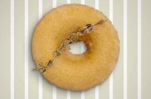 Un donut de Baked by Butterfield.