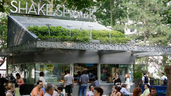 Local original de Shake Shack, en Madison Square Park, en Manhattan, una de las hamburgueserías más populares de Nueva York.