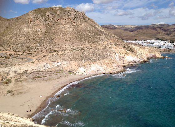 La cala del Cuervo, en Las Negras, Almería.