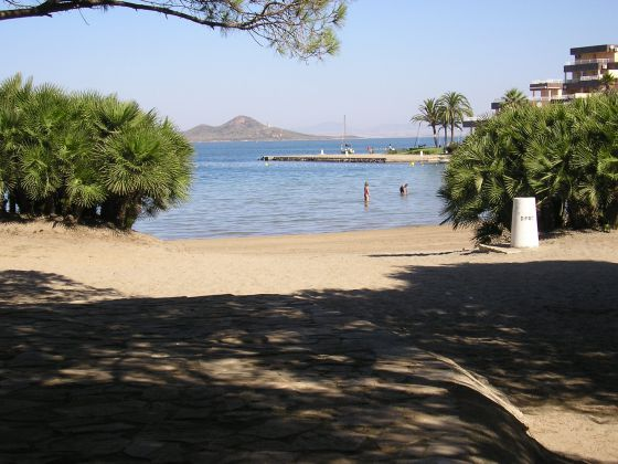 Cala del Pino, en pleno mar Menor.