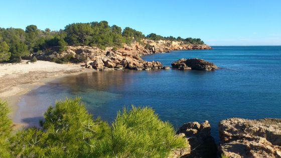 La playa del Estany Podrit.