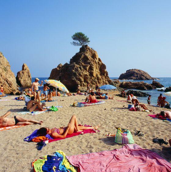Playa de La Mar Menuda, en Tossa de Mar, Girona.