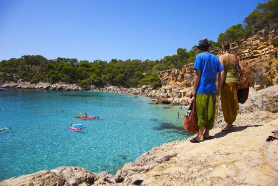 Cala Salada, en Ibiza.