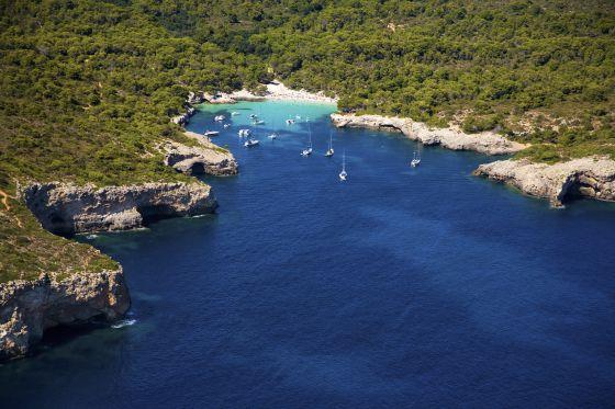 Cala En Turqueta, en Ciudadela, Menorca.