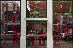 Entrada al Museum of the Moving Image, en el barrio de Astoria, en Queens (Nueva York).