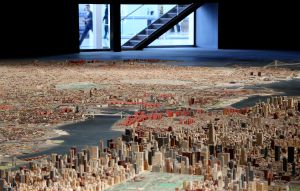 Maqueta del 'Panorama of the City of New York', realizada en 1964, en el Queens Museum.