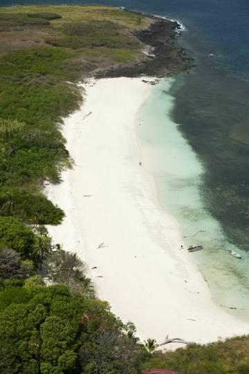 Vista aérea de Isla Iguana, en la península de Azuero (Panamá).