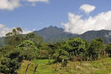Panorámica del volcán Barú, en Chiriquí (Panamá).