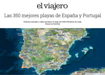 las mejores playas de espana mapa
