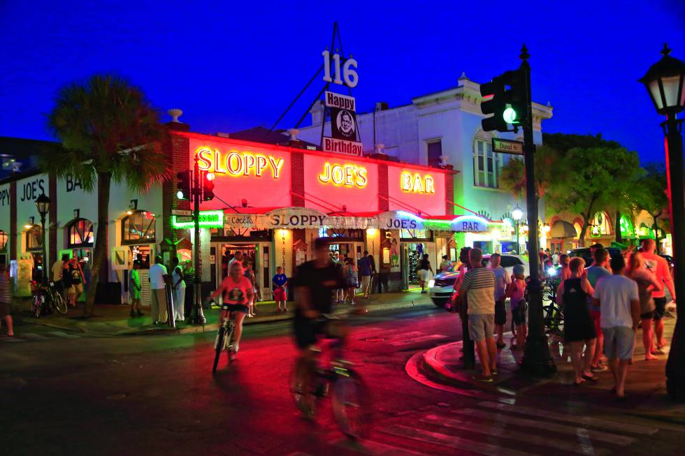 Sloppy Joe's Bar, en la calle Duval de Key West.